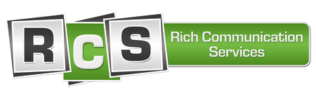 RCS - Rich Communication Services Green Grey Squares Bar