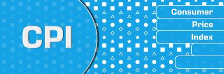 CPI - Consumer Price Index Blue Basic Shapes Text Horizontal