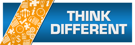 Think Different Orange Business Element Blue Left Side