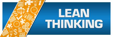 Lean Thinking Orange Business Element Blue Left Side