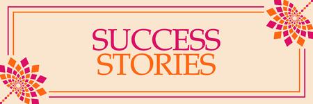 Success Stories Pink Orange Floral Horizontal