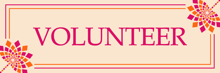 Volunteer Pink Orange Floral Horizontal 版權商用圖片