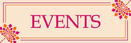 Events Pink Orange Floral Horizontal