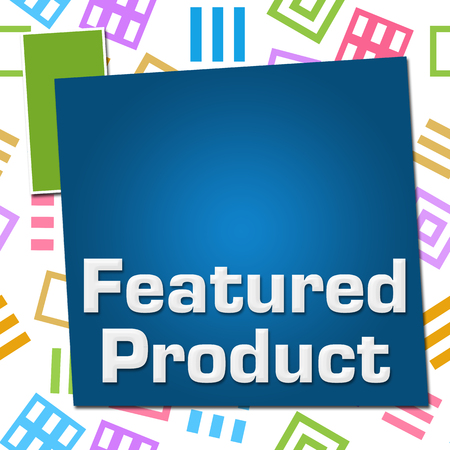 Featured Product Colorful Basic Symbol Squares 写真素材
