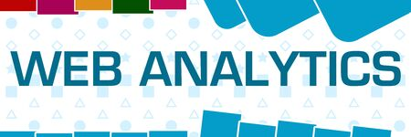 Web Analytics Basic Shapes Texture Colorful Horizontal 免版税图像