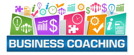 Business Coaching Business Symbols On Top Colorful