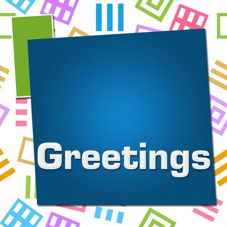 Greetings Colorful Basic Symbol Squares