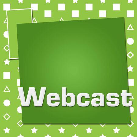 Webcast Green Basic Symbol Squares 版權商用圖片