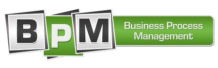 BPM - Business Process Management Green Grey Squares Bar