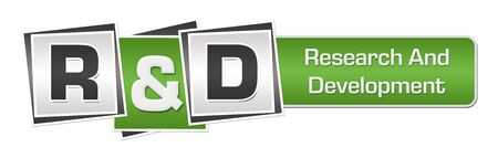R And D - Research And Development Green Grey Squares Bar