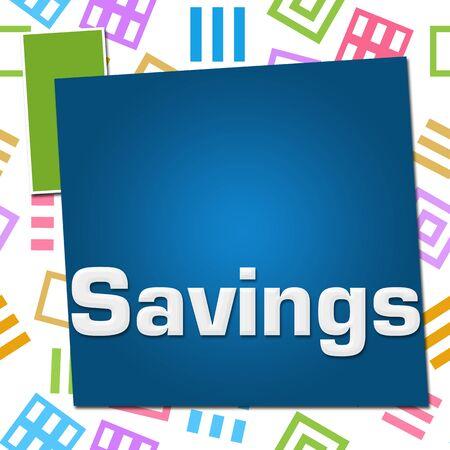 Savings Colorful Basic Symbol Squares