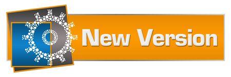 New Version Orange Blue Dotted Gear Horizontal