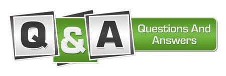 Q And A - Questions And Answers Green Grey Squares Bar Imagens