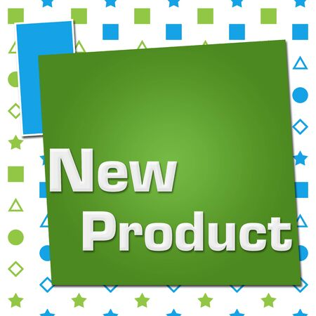 New Product Green Blue Basic Shapes Square Archivio Fotografico - 133227166