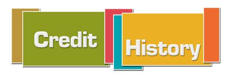 Credit History Various Color Boxes