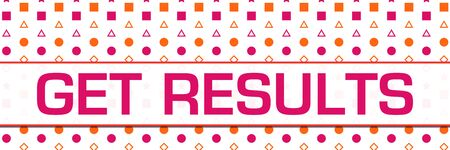 Get Results Pink Orange Basic Shapes Background Horizontal