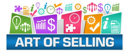 Art Of Selling Business Symbols On Top Colorful