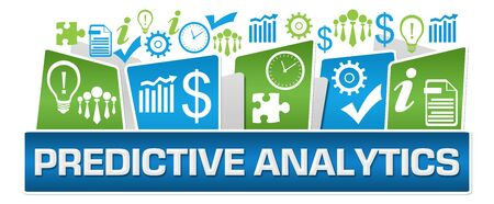 Predictive Analytics Green Blue Business Symbols On Top