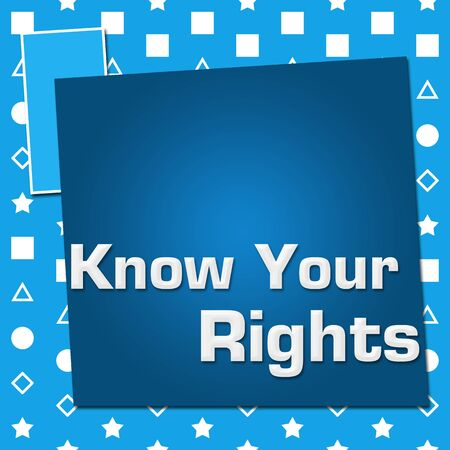 Know Your Rights Blue Basic Symbol Squares