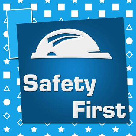 Safety First Blue Basic Symbol Squares