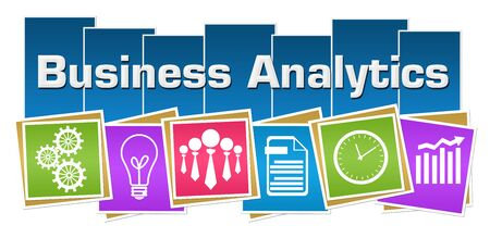 Business Analytics Business Symbols Colorful Squares Stripes