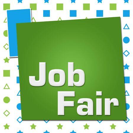 Job Fair Green Blue Basic Shapes Square