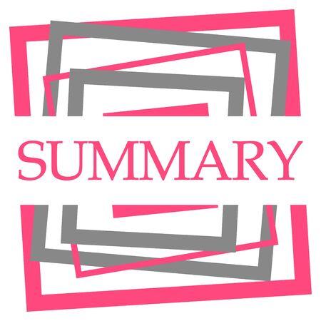 Summary Pink Grey Squares Border Stock Photo