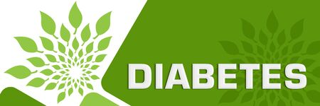 Diabetes Green Leaves Circular Rounded Squares Stock Photo