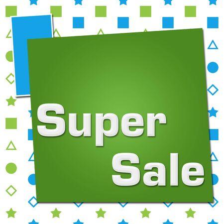 Super Sale Green Blue Basic Shapes Square