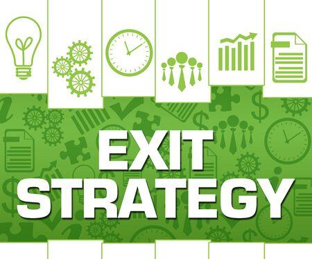 Exit Strategy Green Stripes Lines Symbols