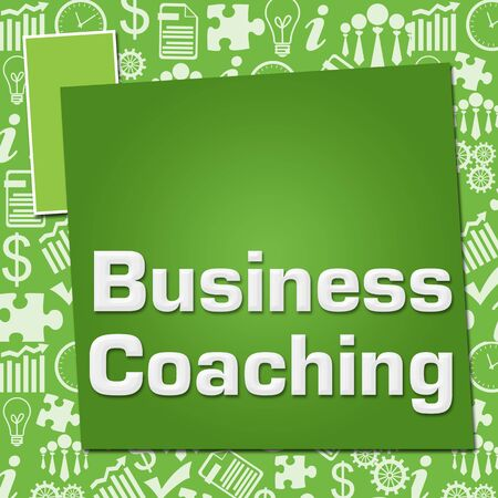 Business Coaching Business Symbols Texture Green Squares Zdjęcie Seryjne