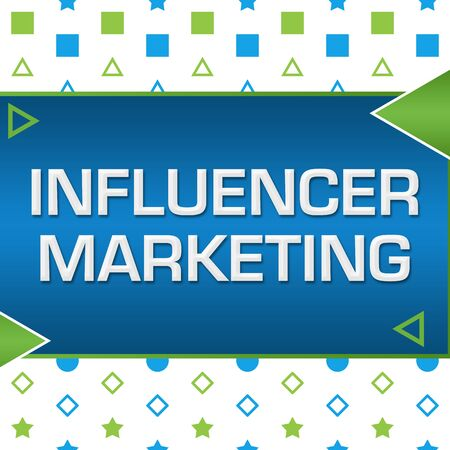 Influencer Marketing Green Blue Basic Shapes Triangles