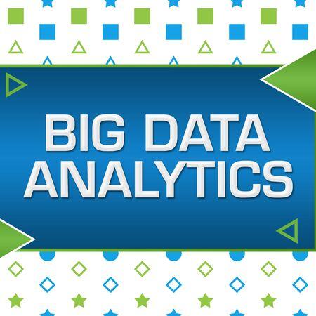Big Data Analytics Green Blue Basic Shapes Triangles