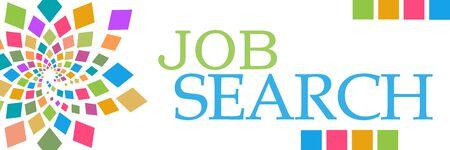 Job Search Colorful Circular Left Horizontal Stockfoto