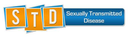 STD - Sexually Transmitted Disease Blue Orange Squares Bar