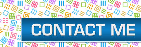 Contact me text written over blue colorful background. Reklamní fotografie