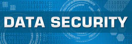 Data security text written over blue background. Stock fotó