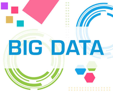 Big data text written over colorful background.