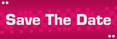 Save the date text written over pink background. Reklamní fotografie