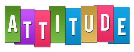 Attitude text written over colorful background. Archivio Fotografico