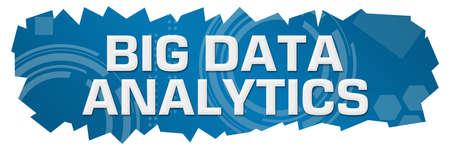 Big data analytics text written over blue background.