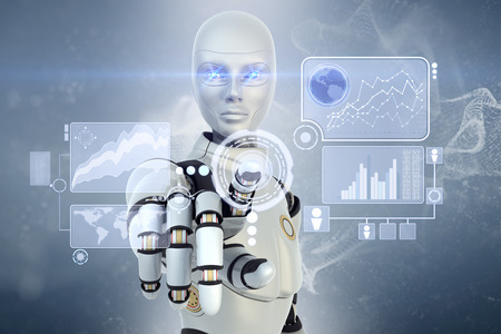 stock trading: Robot using a futuristic interface
