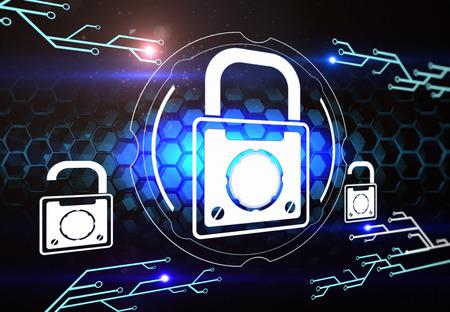 computer netzwerk: Computer-Netzwerksicherheit Lizenzfreie Bilder