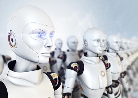 Leger van robots Stockfoto