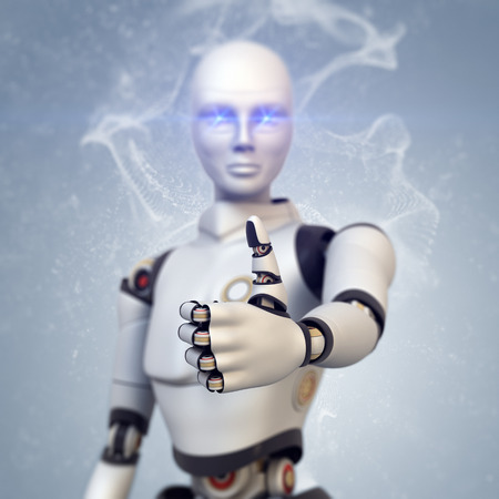 technology agreement: Cyborg giving the thumbs up