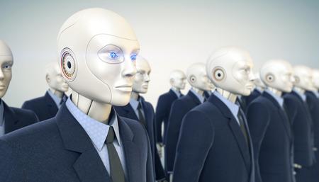 robot: Trabajadores Oficina ejército Foto de archivo
