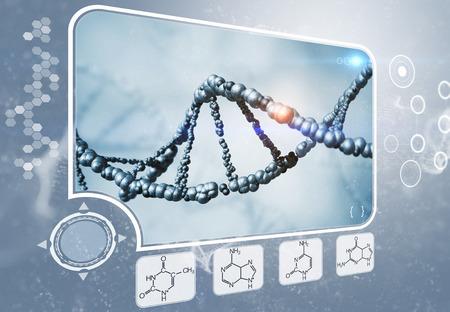 adenine: DNA analysis Stock Photo