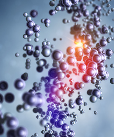 Abstract molecular structure photo