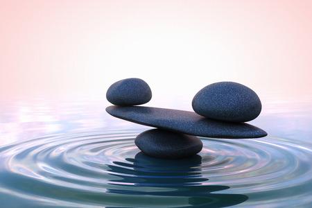 Zen stenen. Sunrise Zen stenen. Zonsopgang