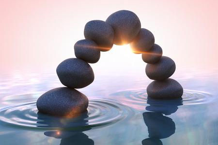 Zen stones. Arc Stockfoto